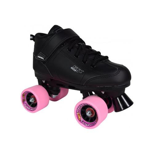 Front Facing Cosmic Cruze Indoor/outdoor Roller Skates with Pink wheels from Rollerskatenation