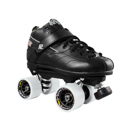 Front Facing Rock GT50 Roller Skates with white wheels from Roller Skate Nation