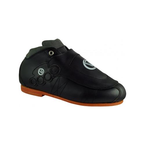 Front Facing Black VNLA Blackout Boots from Roller Skate Nation