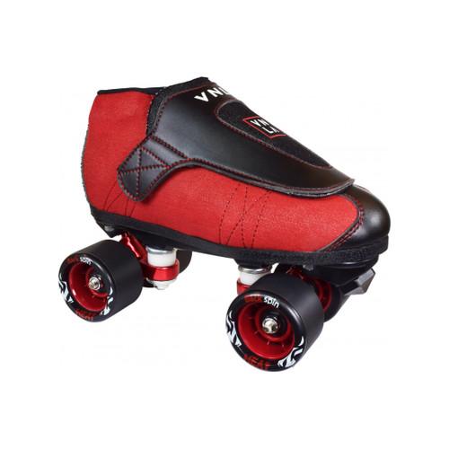 Front Facing VNLA JR Code Red Roller Skates from Roller Skate Nation