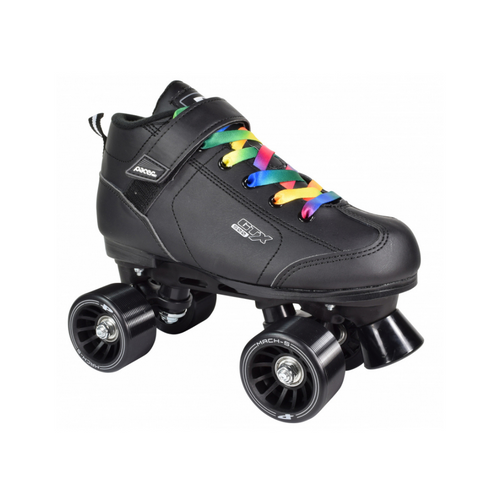 Front Facing Pacer Rainbow GTX-500 Roller Skates From Roller Skate Nation