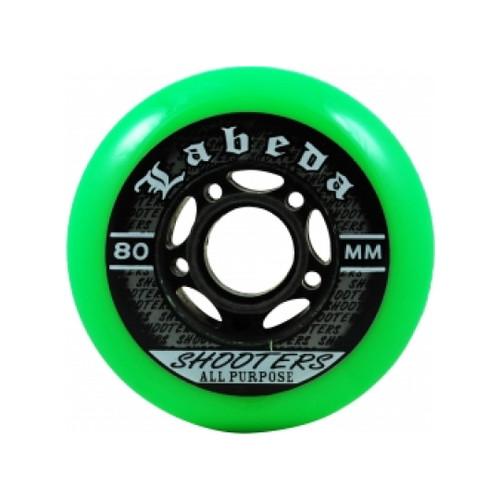 Green Labeda Shooter Hockey Wheels from Rollerskatenation