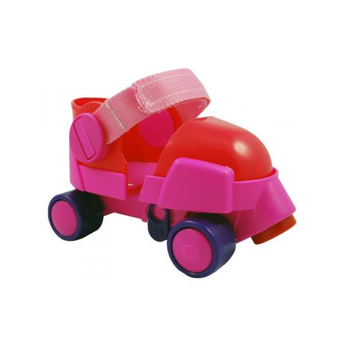 Front Facing Pink/Purple Zippy Adjustable Toddler and Childrens Roller Skates from Rollerskatenation