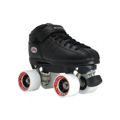 Front Facing Riedell R3 Roller Skates From Roller Skate Nation