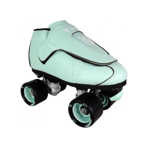 Front Facing VNLA JR Mint Roller Skates from Roller Skate Nation