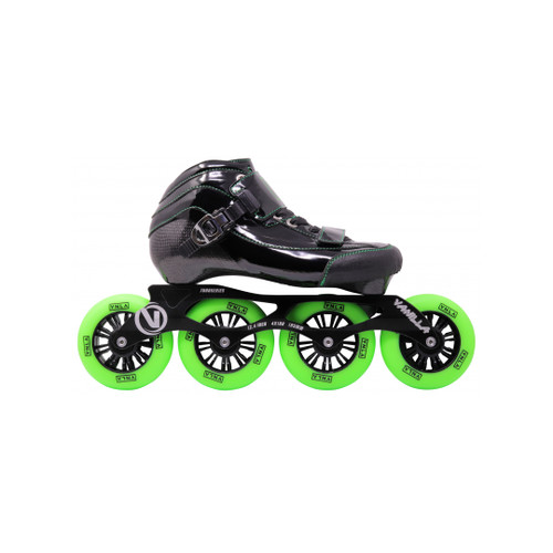 Side Facing Green VNLA Loco Verde Roller Blades from Roller Skate Nation 1