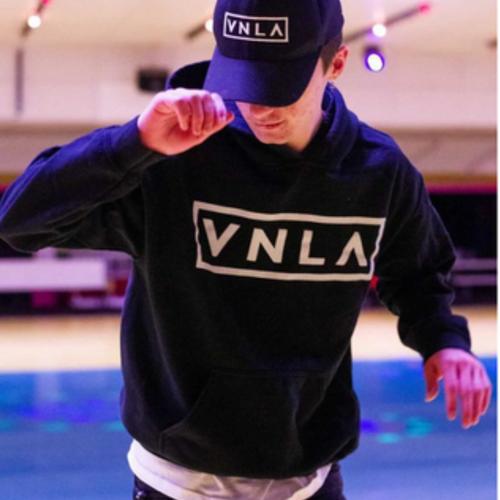 Action Shot Black VNLA Hoodie from Roller Skate Nation