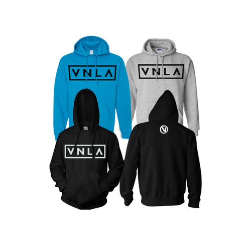 Front and Back Facing VNLA Hoodies from Roller Skate Nation
