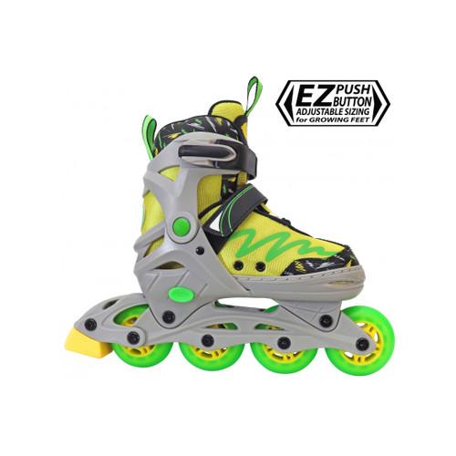 Front Facing Lenexa Lemon Twist Roller Blades from Roller Skate Nation
