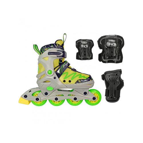 Front Facing Lenexa Lemon Twist Roller Blade Adjustable combo from Roller Skate Nation