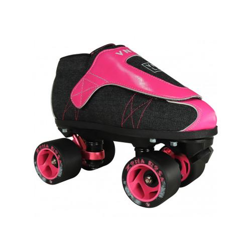 Front Facing VNLA JR ZONA Rosa Roller Skates from Roller Skate Nation