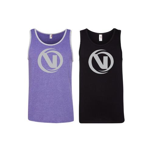 Back Facing Purple and Black VNLA Skates Tank Top from Roller Skate Nation