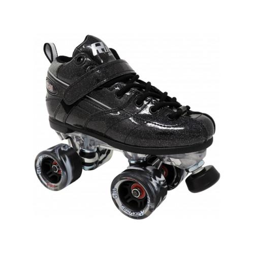 Front Facing Black Rock GT-50 Sparkle Roller Skates from Roller Skate Nation