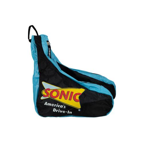 Side Facing Blue Sonic Saddle Roller Skate Bag from Roller Skate Nation