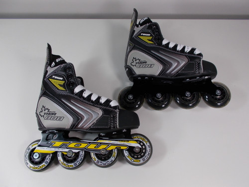 **SLIGHTLY USED** Tour Thor 808 Youth Inline Roller Hockey Skate Size J13