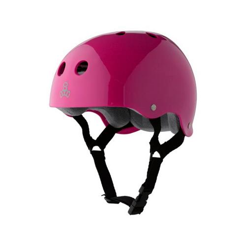Front Facing Pink Triple 8 Brainsaver Helmet from Roller Skate Nation