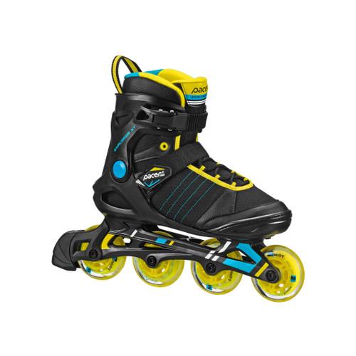 Front Facing Black/Yellow Pacer Explorer Inline Skates from Rollerskatenation