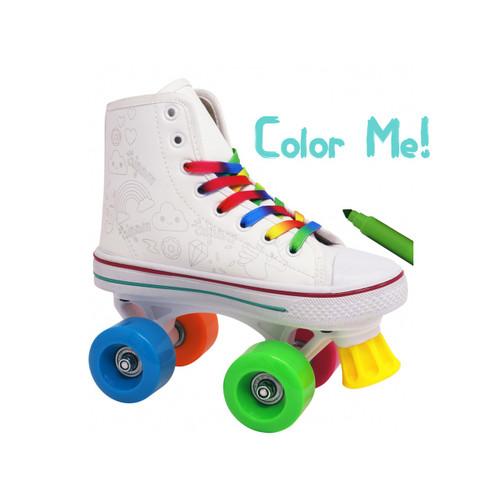 Color Me Kids Quad Roller Skate with Markers