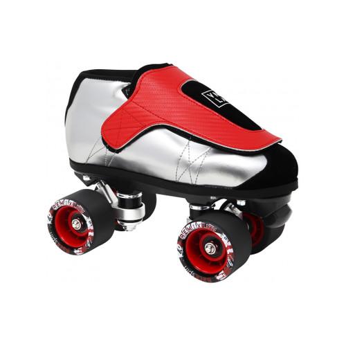 Front Facing VNLA Jr SLVR Roller Skates from Roller Skate Nation