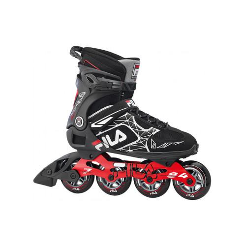 Front Facing Black/Red FILA Legacy Comp Inline Skates from Rollerskatenation