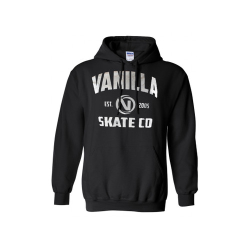 Front Facing Black Vanilla Skate Co Hoodie from Roller Skate Nation