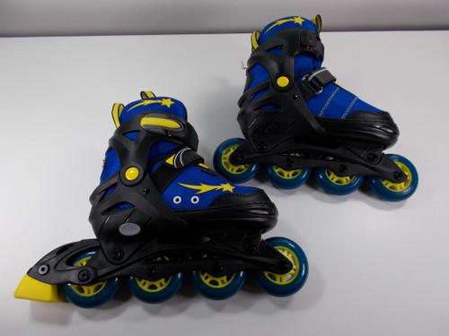 Slightly Used Black and Blue Lenexa Apollo Adjustable Roller Blades from Roller Skate Nation 1