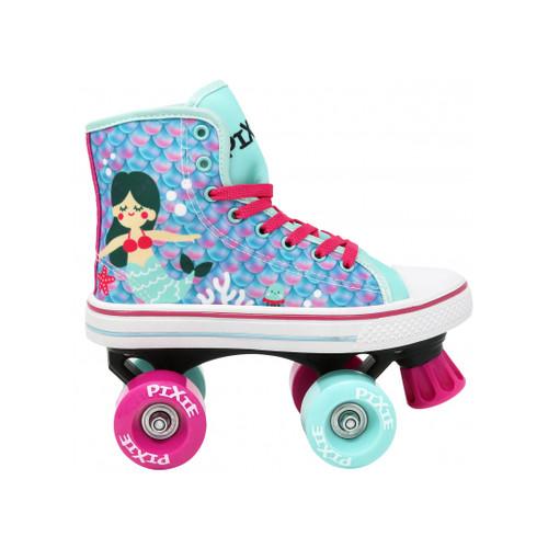 Front Facing Pixie Mermaid Roller Skates from Rollerskatenation