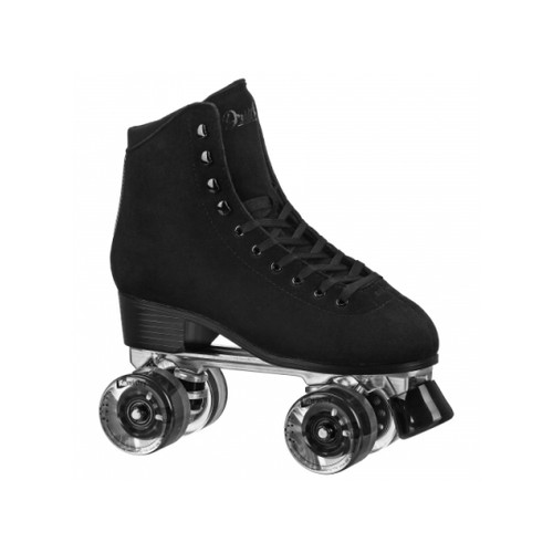 Front Facing Black Roller Derby DriftR Roller Skates from Roller Skate Nation
