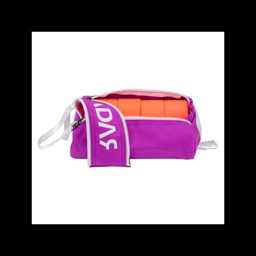 Open Facing Purple Radar Wheelie Bag from Roller Skate Nation