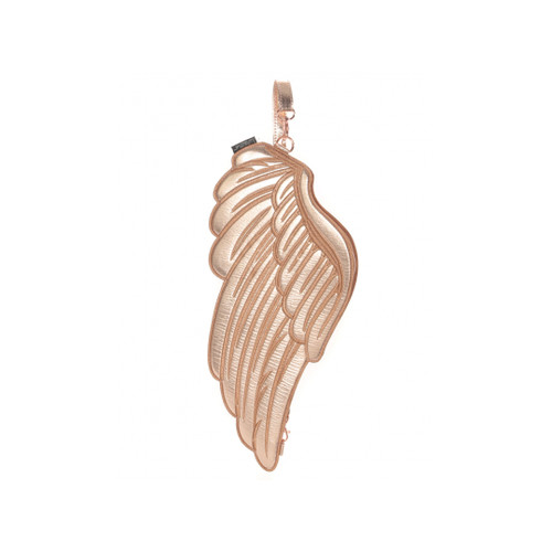Front Facing Rose Gold Fydelity Wings Sling Bag from Roller Skate Nation