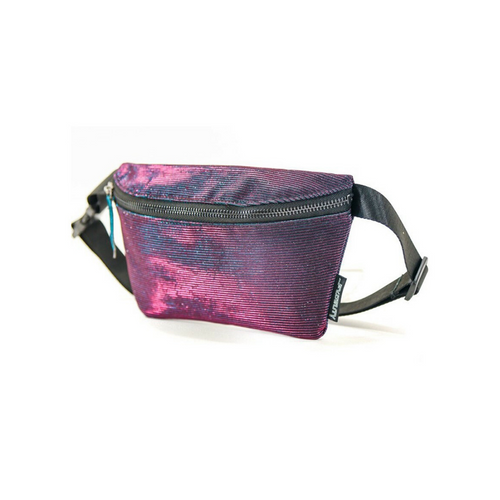 Front Facing Purple and Blue Fydelity Fanny Pack from Roller Skate Nation 2