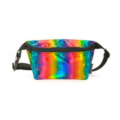 Front Facing Metallic Rainbow Fydelity Fanny Pack from Roller Skate Nation