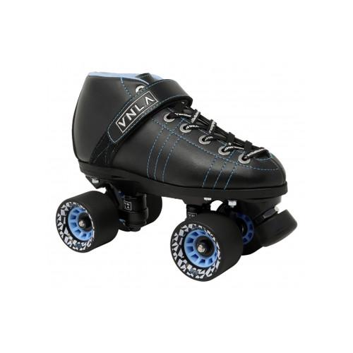 Front Facing Blue VNLA Renegade V4.0 Roller Skates from Roller Skate Nation