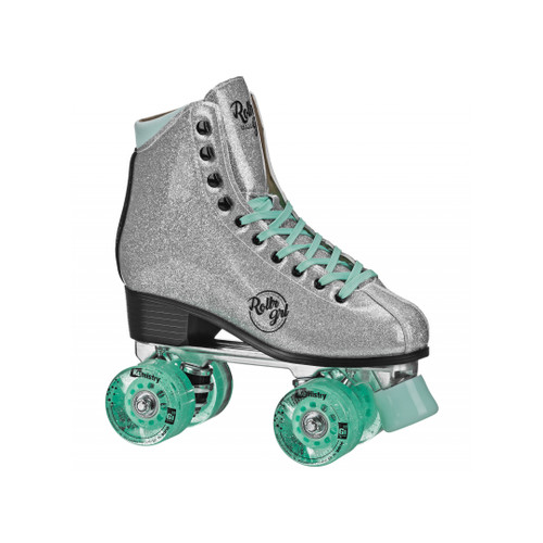 Front Facing Silver Roller Girl Astra Roller Skates  from Roller Skate Nation