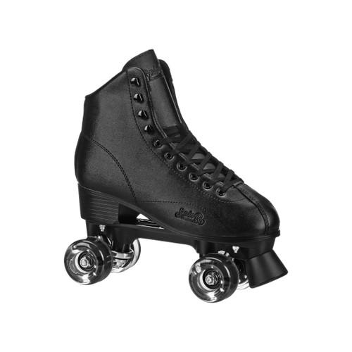 Front Facing Black Roller Derby SpinR Roller Skates  from Roller Skate Nation