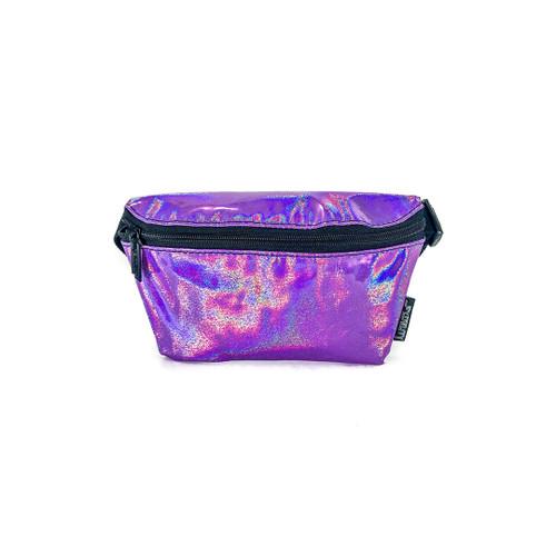 Front Facing Purple Laser Fydelity Fanny Pack from Roller Skate Nation