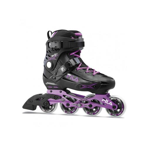 Front Facing Black/Violet FILA Madame Houdini Inline Skates from Rollerskatenation