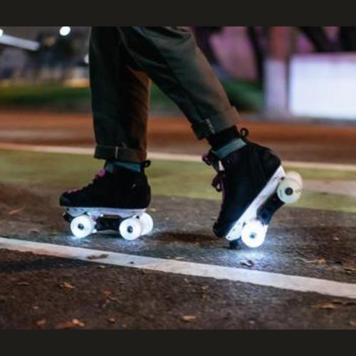 Luminous *Glow* Light Up Quad Hybrid 62 mm Wheels from Rollerskatenation