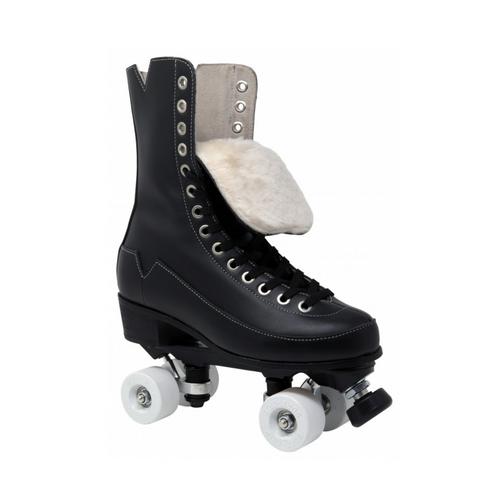 Front Facing VNLA Godfather Roller Skates with white wheels from Roller Skate Nation