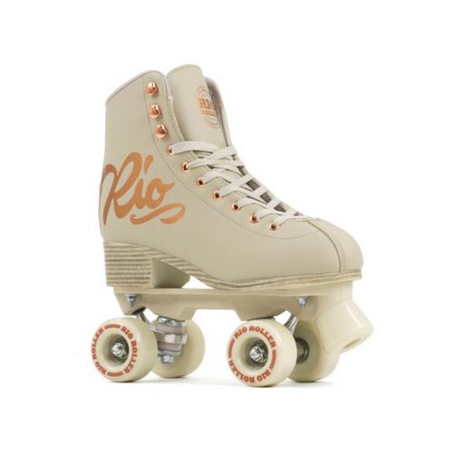 Front Facing Creme Rio Roller Rose Roller Skates from Roller Skate Nation