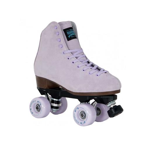 Front Facing Lavender Sure-Grip Boardwalk Roller Skates from Roller Skate Nation