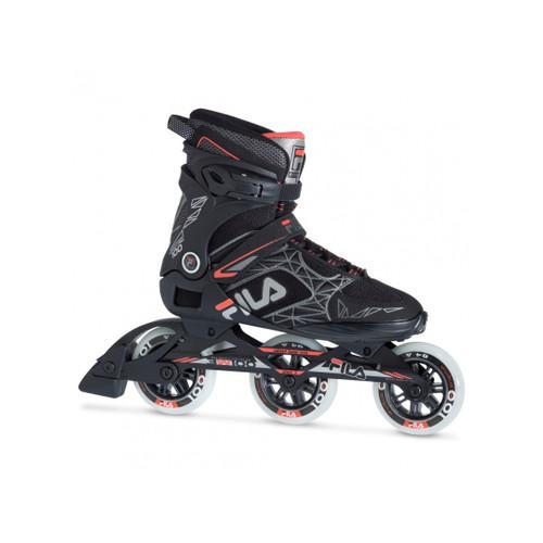 Front Facing Black/Red FILA Legacy Pro 100 Inline Skates from Rollerskatenation