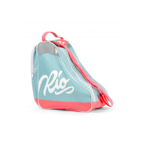 Front Facing Teal and Coral Rio Roller Skate Bag from Roller Skate Nation