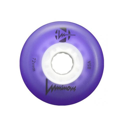 Purple Luminous Light-Up Inline wheels 72 mm from Rollerskatenation