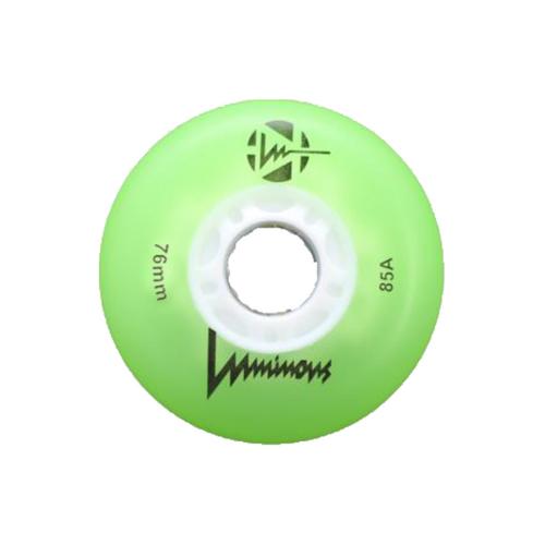 Green Luminous Light-Up Inline wheels 76 mm from Rollerskatenation