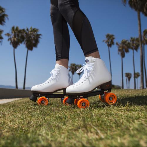 White Riedell 111 Roller Skates