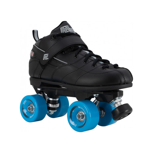 Front Facing Sure-grip Rock gt50 Roller Skates with bue wheels from Roller Skate Nation