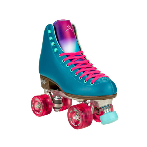 Front Facing Lagoon Teal Riedell Orbit Roller Skates  from Roller Skate Nation
