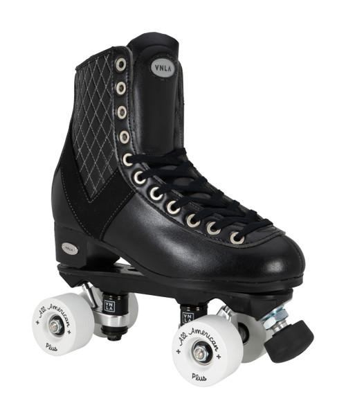 Front Facing VNLA V-Line Roller Skate with white wheels from Roller Skate Nation
