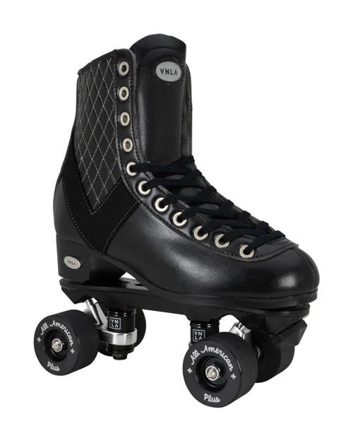 Side Facing VNLA V-Line Roller Skate with black wheels from Roller Skate Nation